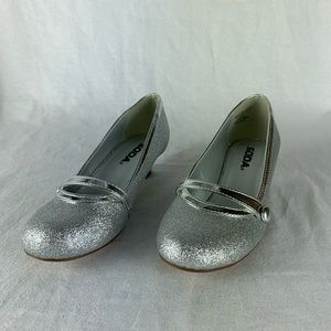 💸Sale - Soda Girl Dress Shoes Silver with Glitter